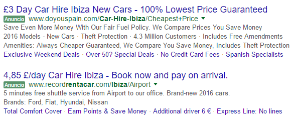 What car hire in Ibiza?
